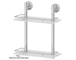 Полка двухъярусная 30 см матовое стекло FBS (Чехия) ELL 062