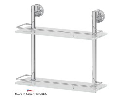 Полка двухъярусная 40 см матовое стекло FBS (Чехия) ELL 063