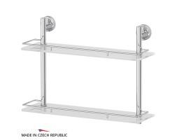 Полка двухъярусная 50 см матовое стекло FBS (Чехия) ELL 064