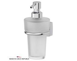 Держатель с емкостью для жидкого мыла матовый хрусталь FBS (Чехия) ESP 009