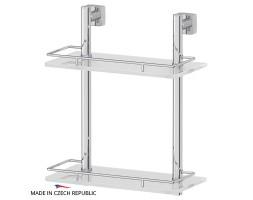 Полка двухъярусная 30 см матовое стекло FBS (Чехия) ESP 062