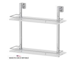Полка двухъярусная 40 см матовое стекло FBS (Чехия) ESP 063