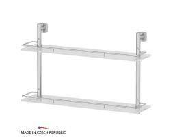 Полка двухъярусная 60 см матовое стекло FBS (Чехия) ESP 065