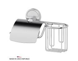 Держатель туалетной бумаги с крышкой и освежителя FBS (Чехия) LUX 053