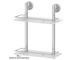 Полка двухъярусная 30 см матовое стекло FBS (Чехия) LUX 062