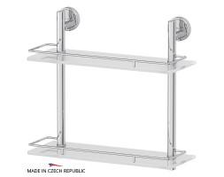 Полка двухъярусная 40 см матовое стекло FBS (Чехия) LUX 063
