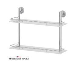 Полка двухъярусная 50 см матовое стекло FBS (Чехия) LUX 064