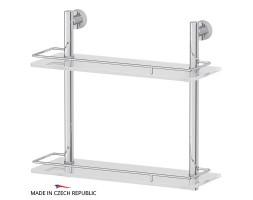 Полка двухъярусная 40 см матовое стекло FBS (Чехия) NOS 063