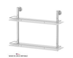 Полка двухъярусная 50 см матовое стекло FBS (Чехия) NOS 064