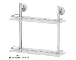 Полка двухъярусная 40 см матовое стекло FBS (Чехия) STA 063