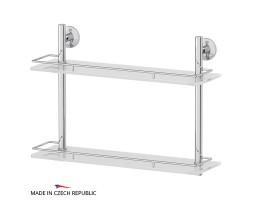 Полка двухъярусная 50 см матовое стекло FBS (Чехия) STA 064