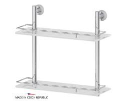 Полка двухъярусная 40 см матовое стекло FBS (Чехия) VIZ 063