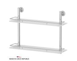 Полка двухъярусная 50 см матовое стекло FBS (Чехия) VIZ 064