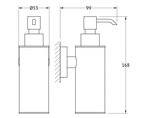 Емкость для жидкого мыла металлическая ARTWELLE (Германия) HAR 016