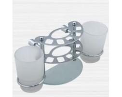 Держатель зубных щеток к стене стекло Rainbowl (Турция) Aqua 0039-4