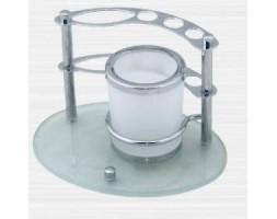 Держатель зубных щеток настольный с двигающимся стаканом Rainbowl (Турция) Aqua 0039-6