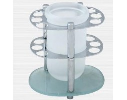Держатель зубных щеток настольный малый стекло Rainbowl (Турция) Aqua 0039-7