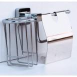 Бумагодержатель + освежитель воздуха Rainbowl (Турция) Cube 2730-1