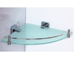 Полка стекло с ограничителем угловая Rainbowl (Турция) Cube 2743