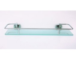Полка стекло 40 см с ограничителем Rainbowl (Турция) Cube 2753-3