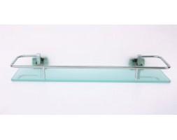 Полка стекло 50 см с ограничителем Rainbowl (Турция) Cube 2753-1
