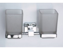 Держатель двойной квадрат со стаканами Rainbowl (Турция) Cube 2768-1
