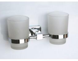 Держатель двойной со стаканами Rainbowl (Турция) Cube 2768