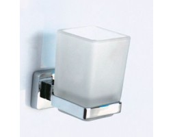 Держатель одинарный стакан квадратный Rainbowl (Турция) Cube 2784-1