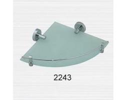 Полка стекло с ограничителем угловая Rainbowl (Турция) Long 2243