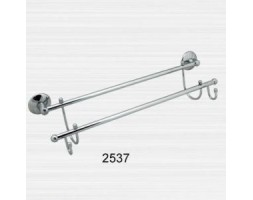 Полотенцедержатель двойной гнутый с крючками Rainbowl (Турция) Otel 2537