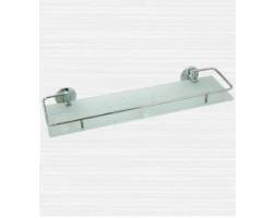 Полка стекло с ограничителем 50 см Rainbowl (Турция) Otel 2553-1