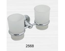 Держатель двойной прямой со стаканами Rainbowl (Турция) Otel 2568