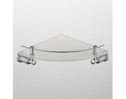 Полка стекло с ограничителем угловая Schein (Германия) Carving 7065048