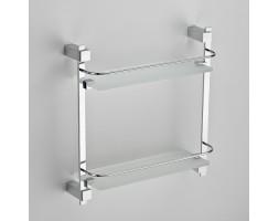 Полка прямая стекло с ограничителем двухэтажная Schein (Германия) Durer 2612NL