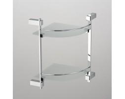 Полка угловая стекло с двухэтажная Schein (Германия) Durer 2612B