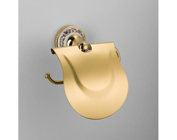 Бумагодержатель с крышкой Schein (Германия) Saine Gold 7053026VF