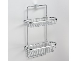 Полка хромированная решетка двухэтажная Schein (Германия) Swing 32005