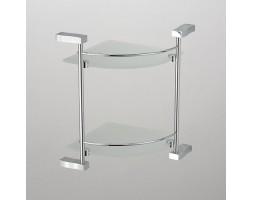 Полка угловая стекло двухэтажная Schein (Германия) Swing 3212B