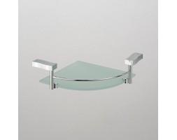 Полка угловая стекло с ограничителем Schein (Германия) Swing 3212B1