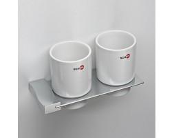 Стакан керамика двойной к стене Schein (Германия) Swing 324C