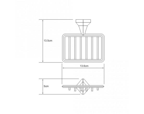 Мыльница решетка WasserKRAFT (Германия) Aller 1169