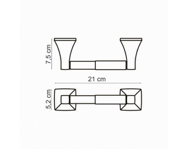 Держатель для туалетной бумаги WasserKRAFT (Германия) Wern 2522