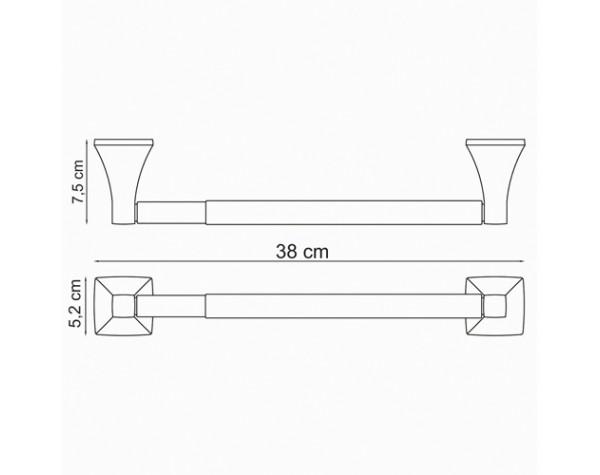 Держатель бумажных полотенец 32см WasserKRAFT (Германия) Wern 2522D