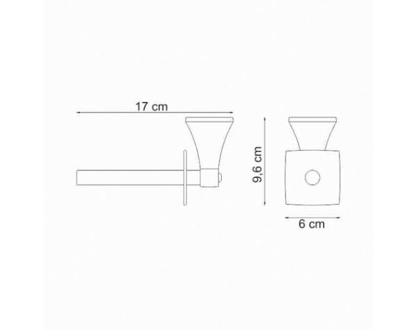 Держатель туалетной бумаги вертикальный WasserKRAFT (Германия) Wern 2597