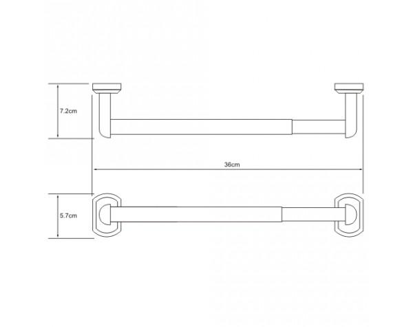 Держатель бумажных полотенец 32см WasserKRAFT (Германия) Oder 3022D