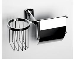 Держатель туалетной бумаги и освежителя WasserKRAFT (Германия) Oder 3059