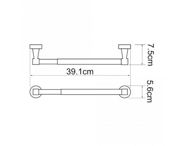 Держатель бумажных полотенец 32см WasserKRAFT (Германия) Isen 4022D