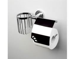 Держатель туалетной бумаги и освежителя WasserKRAFT (Германия) Isen 4059