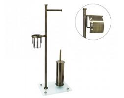 Комбинированная напольная стойка светлая бронза WasserKRAFT 1234
