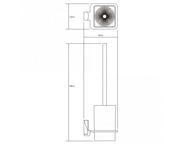 Щетка для унитаза подвесная WasserKRAFT (Германия) Leine 5027